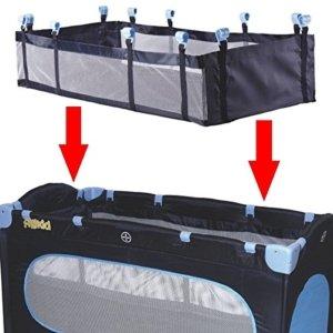 Einhang / Einlage für Reisebett Babybett Kinderbett Reisebetteinhang 120 x 60 cm in 3 verschiedenen Farben (Grau) -