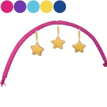 Infantastic Baby Spielbogen mit Sternen passend zu Infantastic Kinderreisebetten (KRB03), pink -