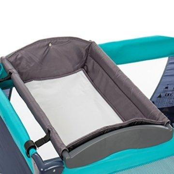 Mobiler Wickelaufsatz mit Wickelunterlage / Wickelauflage für Kinder Reisebetten (120 x 60 cm) -